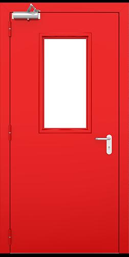 drzwi stalowe-czerwone
